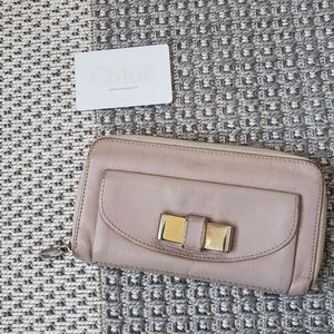 """CHLOÉ """"Lily"""" Zip Around Leather Wallet"""